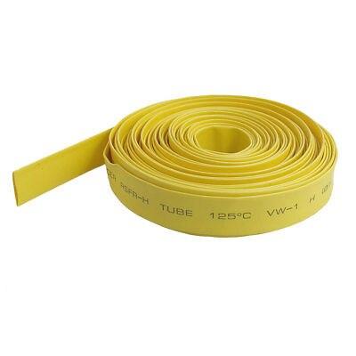 Ratio 2:1 7mm Dia Yellow Polyolefin Heat Shrinkable Tube 10M clear 2 1 ratio 1m 3 3ft 2mm dia heat shrinkable tube 19 pieces