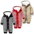 Últimas outono e inverno de algodão bebê recém-nascido tampar coveralls Romper escalada roupas meninos e meninas modelos de criança Romper malha