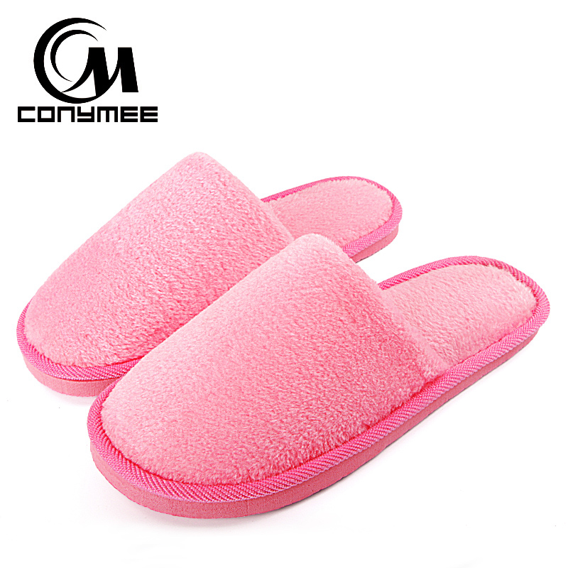 CONYMEE Home Slippers Women 2018 Winter Shoes Fluffy Slipper Candy Color Warm Plush Terlik Pantuflas Woman Indoor Cotton ShoeCONYMEE Home Slippers Women 2018 Winter Shoes Fluffy Slipper Candy Color Warm Plush Terlik Pantuflas Woman Indoor Cotton Shoe