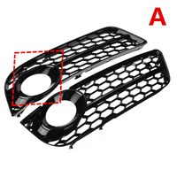 2x A5 Car Front Bumper Fog Light Lamp Grille Grill Cover Mesh Honeycomb Hex For Audi A5 Coupe/Sportback 08 11 Cabriolet 10 11