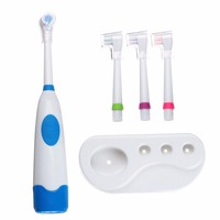 Fashion Automatic Revolving Electric Toothbrush Teeth Care 3 Brush Head Kit Hygiene Oral Dental Care