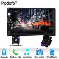 Podofo 2 Din Car Radio 7 HD Player MP5 Touch Screen Digital Display Bluetooth USB SD