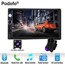 Podofo 2 din car radio 7 HD Player MP5 Touch Screen Digital Display Bluetooth USB SD