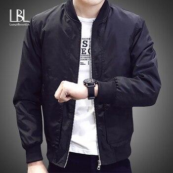 LBL Bomber Jacket Men 2020 Autumn Casual Solid Fashion Slim Ma 1 Zipper Jackets Men Overcoat Basebal
