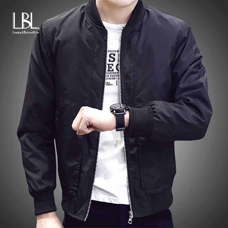 LBL Весна бомбардировщика Куртки мужские осень Повседневное модные однотонные тонкий мА 1 куртки с застёжкой-молнией и Для мужчин пальто Бейсбол Для мужчин s тонкая куртка пилота