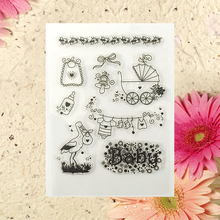 Cute baby Transparent Clear Silicone Stamp/seal for DIY Scrapbooking/photo Album Decorative Clear Stamp Sheets  A150