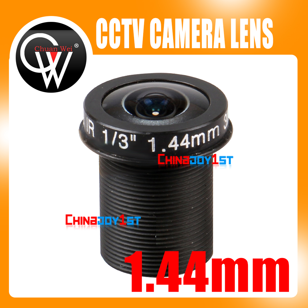"5MP Panoramic 1.44mm lensa 180 Derajat F2.0 1/3 ""M12 lensa CCTV Fisheye untuk 720 P / 1080 P CCTV IP Kamera"