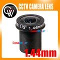 """Panorámica 1.44mm lente 180 Grados F2.0 3MP 1/3 """"M12 CCTV lente Ojo de Pez para 720 P/1080 P CCTV Cámara IP"""