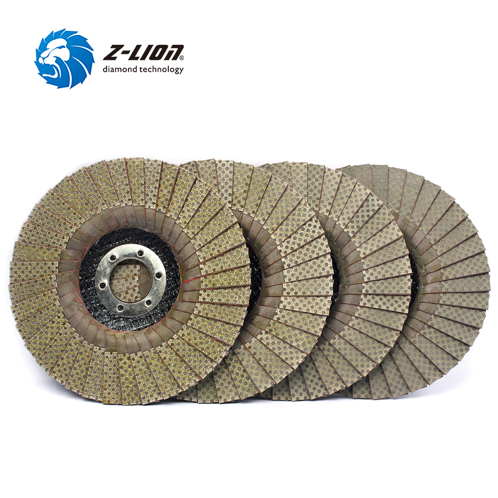цена на Z-LION 4pcs 5 Flap Discs Angle Grinder Sanding Disc Diamond Grinding Wheels Glass Ceramics Tile Stone Marble Granite Polishing