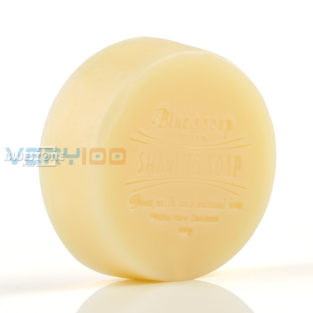 100g Goat Milk Men Bead Shaving Soap Cream Foaming  Lather For Razor Barber Salon Tool
