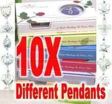 SALE Popular Gift Wholesale Lot of 10 boxes different mix pendant Wish Pearl Necklace gift set-who133 Free shipping