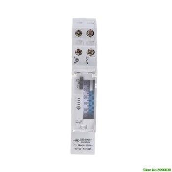 Mecânica 24 Horas Programável Trilho Din Interruptor Do Temporizador Relé 110-240 v 16A