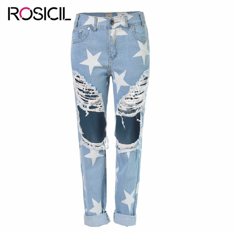 Loose Mid Waist  Jeans Casual Ladies Ripped Hole Jeans Summer Fashion Style Light Blue Denim Pants Boyfriend Jeans For Women denim overalls male suspenders front pockets men s ripped jeans casual hole blue bib jeans boyfriend jeans jumpsuit or04