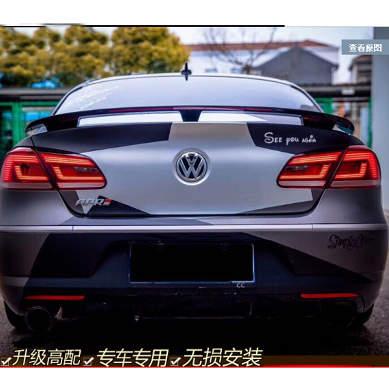For Volkswagen VW Passat CC 2009 2010 2011 2012 2013 2014 2015 2016 ABS Material Unpainted Primer Tail Wing Rear Trunk Spoiler золотая цепь ювелирное изделие 27644