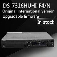 Darmowa wysyłka English version DS-7316HUHI-F4/N Turbo HD 16ch DVR obsługuje HD-TVI 3MP 4 SATA/analog/IP kamery trzyosobowy hybrid