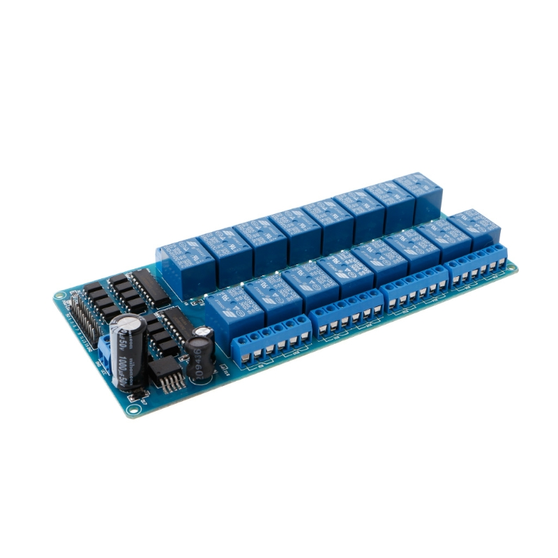 16 Channel 5V Relay Shield Module For Arduino UNO 2560 1280 ARM PIC AVR STM32 #Aug.26 dc 12v 8 channel relay module with optocoupler for arduino uno mega 2560 1280 arm pic avr