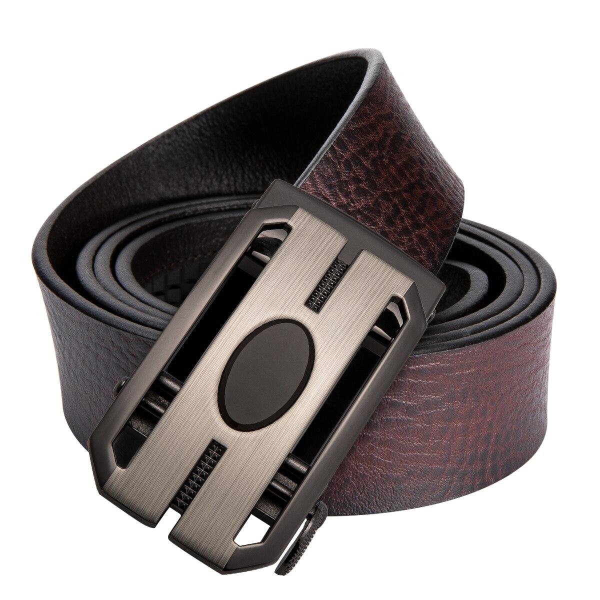 DiBanGu Männer Bussiness Stil Designer Lather Band Männlichen Gürtel mit Automatische Schnalle Gürtel Cinturones Hombre 110-130 cm GX-0072
