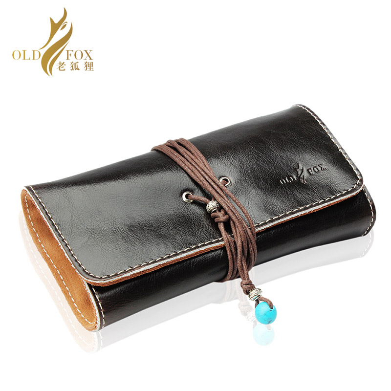 Pochette en cuir OLDFOX pochette pour pipe à tabac/sac pour pipe à tabac accessoires pour pipe à fumer porte-étui 3 tuyaux fc0001-55