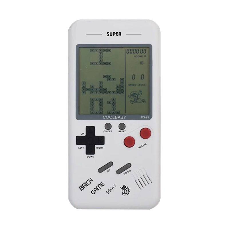 KaRue Gift Retro Classic Childhood Tetris Handheld Game Players LCD Electronic Games Toy Game Console Educational Toy