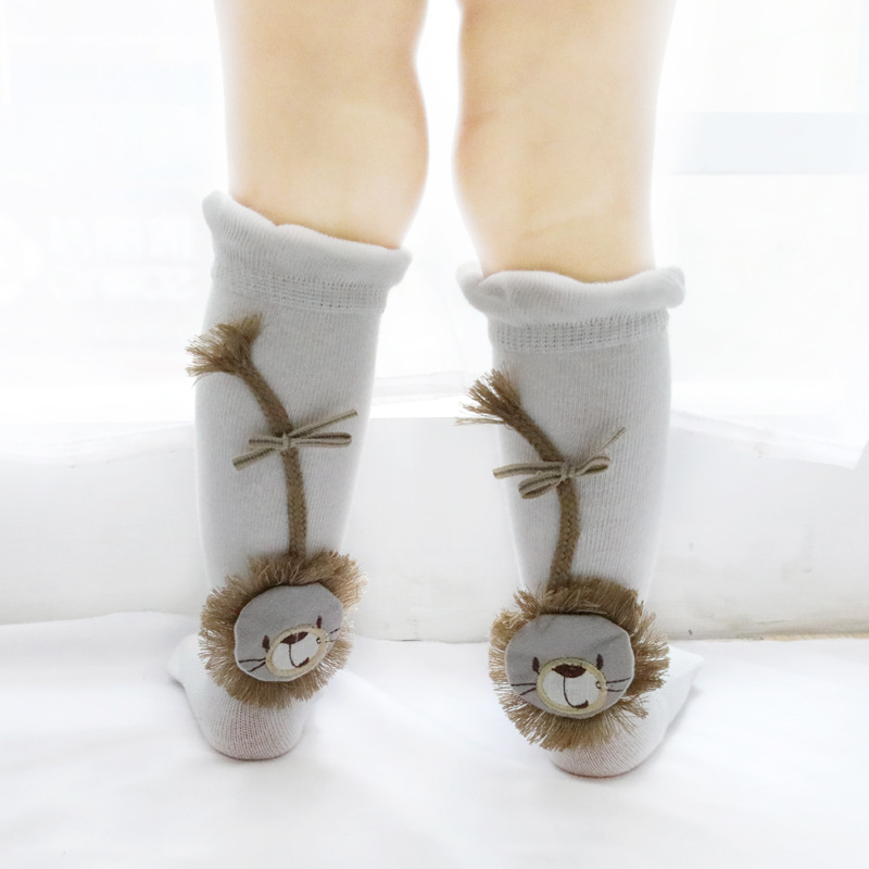 2019 new spring and autumn cartoon lion baby socks 0 1 3Y newborn children 39 s socks loose mouth cotton baby stuff for newborns in Socks from Mother amp Kids