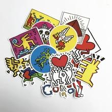 TD ZW 2018 14stk Keith Haring Stickers Dekal För Snowboard Laptop Bagage Bil Kylskåp DIY Styling Vinyl Heminredning Pegatina