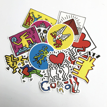 TD ZW 2019 14Pcs Keith Haring Stickers Decal For Snowboard Laptop Luggage Car Fridge DIY Styling Vinyl Home Decor Pegatina