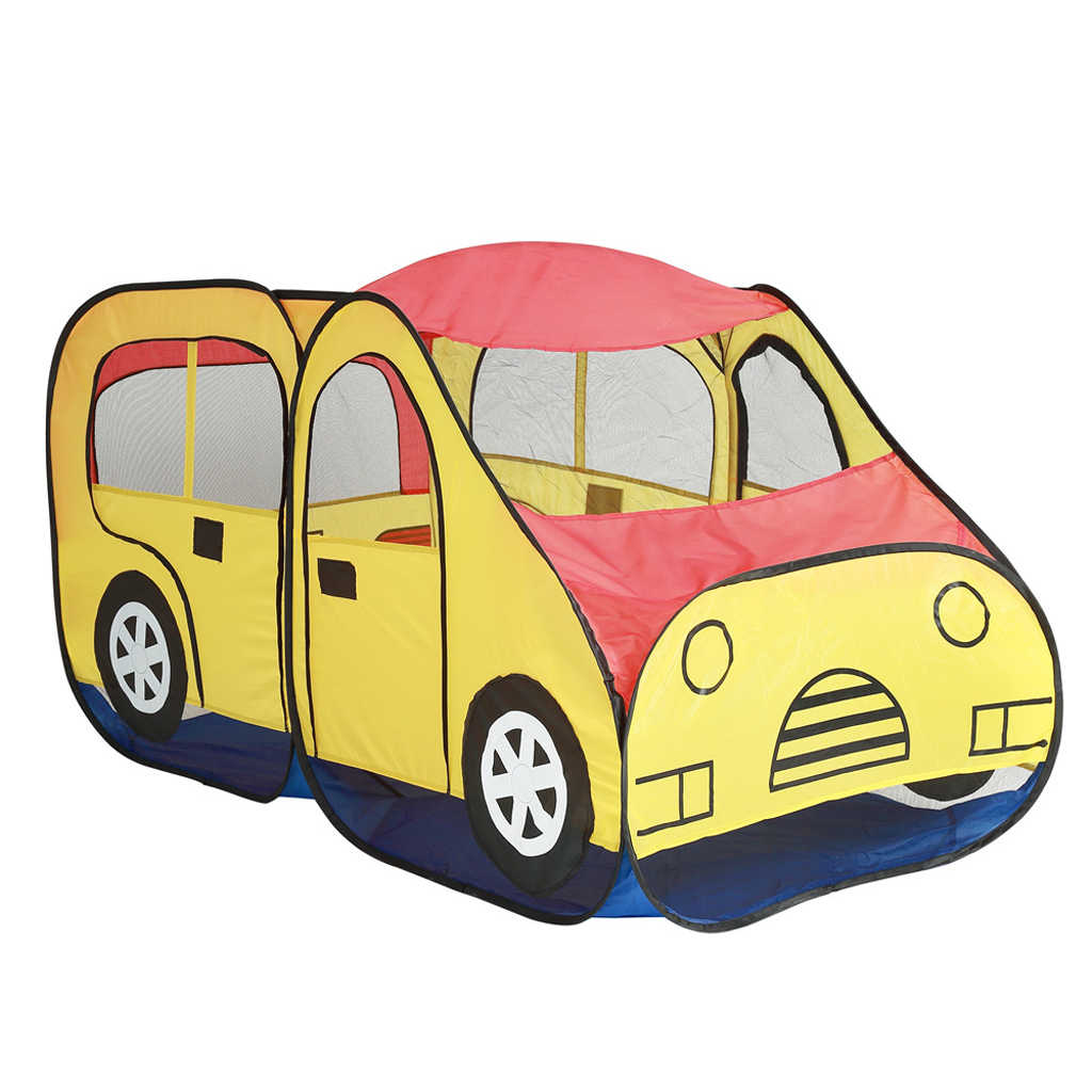 detailed look 1ba6a aa15a 69'' Pop Up School Bus Play Tent Hut for Kids Play Houses Game Nursery  Playpen Waterproof Car Play House Castle Tent Baby Toy