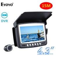 Eyoyo Original 15M Infrared Fish Finder Underwater 1000TVL Ice Fishing Camera Video Recording DVR 4 3