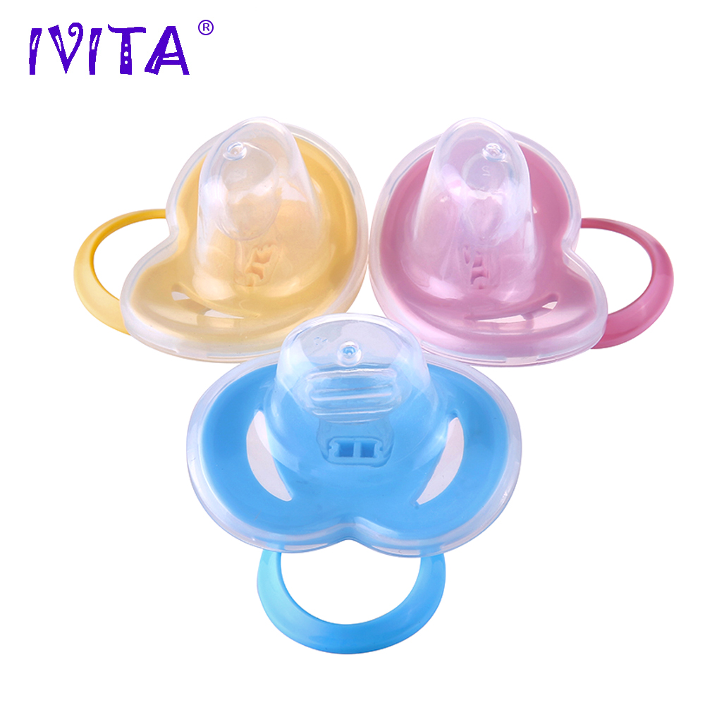IVITA Pacifiers For Full Body Reborn Doll Silicone Dolls Reborn Accessories Silicone Baby Feeding Toys Pacifier