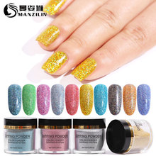 10ml Dip Nail Glitter Colorful Pigment Powder 3.2*3cm Bottle Design for Nails Rub Manicure Dipping NHD