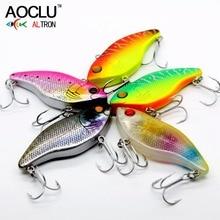 AOCLU wobblers Super Quality 5 Colors 6cm 16g Hard Bait VibeMinnow Crank Popper Fishing lures Bass Fresh Salt water 6# VMC hooks
