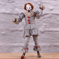 NECA Movie Figure Action Stephen King's It Pennywise PVC Collectible Model Toy Horrible Gifts