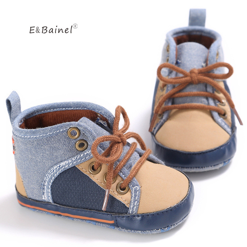 E&Bainel New Baby Boy Shoes Grey Red Color New Born Baby ...