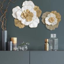 Современный цветок из кованого железа, украшение на стену, кулон для гостиной, фон на стену, подвесные украшения для отеля, крыльца, настенная Фреска, художественное ремесло