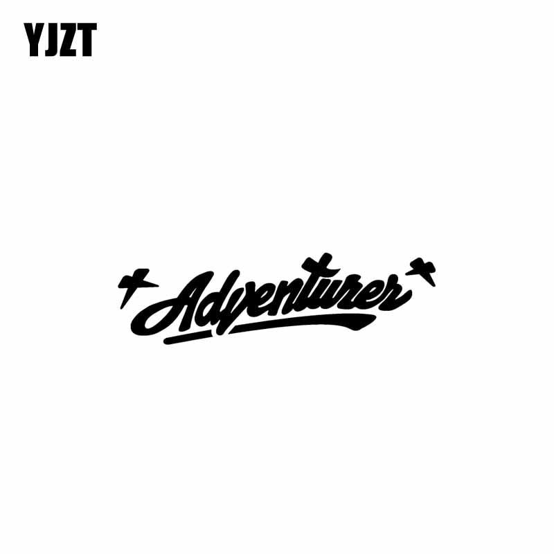 YJZT 17.8CM*5.2CM ADVENTURER Vinyl Car Sticker Decals Motorcycle Black/Silver C13-000484