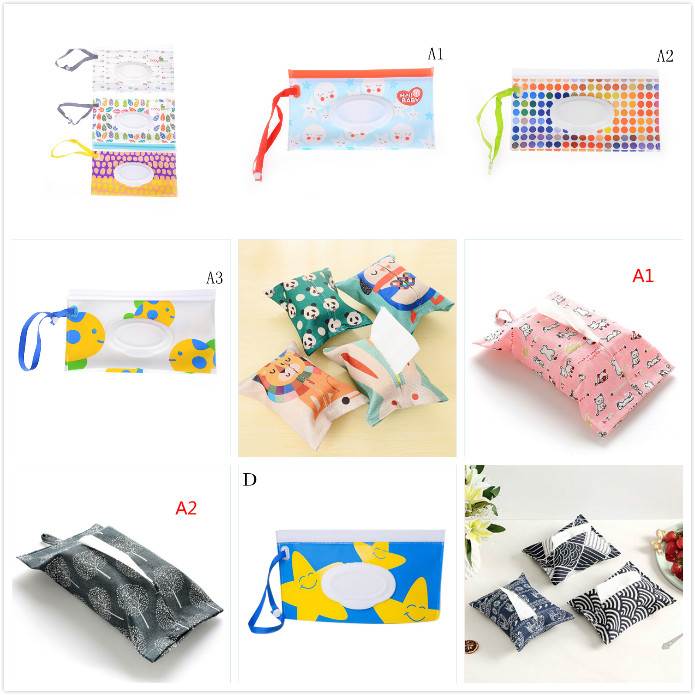 Confident Clutch And Clean Wipes Carrying Case Eco-friendly Wet Wipes Bag Clamshell Cosmetic Pouch Easy-carry Snap-strap Wipes Container Excellent Quality