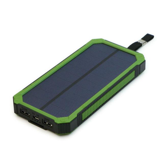 Carregador solar 15000 mah banco de potência dual usb portátil bateria externa solar para ihone samsung ipad yoga tab gps e mais