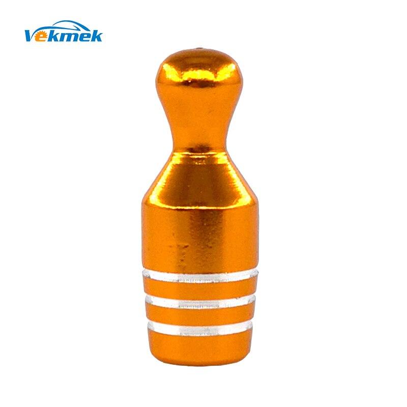 4 шт. Боулинг алюминиевые колпачки для шин для автомобиля велосипед мотоцикл сплав стволовые крышки клапана для США клапан автомобиля-Стайлинг Запчасти Аксессуары - Цвет: Golden