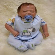 18 inch 47 cm Silicone baby reborn dolls lifelike doll reborn Cute baby doll sleeping baby