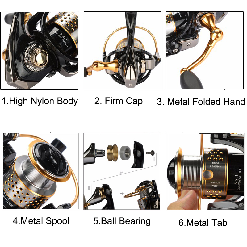 Tsurinoya Fishing Reels Metal Spinning Reel With One Spare Spool Left And Right Hand 9bb Carp Sea Reel