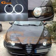 Для Alfa Romeo 147 2000 2001 2002 2003 2004 галогенная фара превосходная ультра яркая подсветка с холодным катодом(CCFL) Ангельские глазки комплект Halo Кольцо