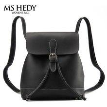 MS HEDY Искусственная Кожа женщины рюкзаки женщины bagpack студент school мешок для девочек путешествия краткое стиль рюкзак  женский сумки женские портфель школьный