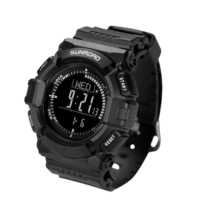 SUNROAD montres numériques Hommes montre de sport-altimètre baromètre Boussole Horloge Chronomètre Randonnées Courir Montre-Bracelet Étanche 50 m