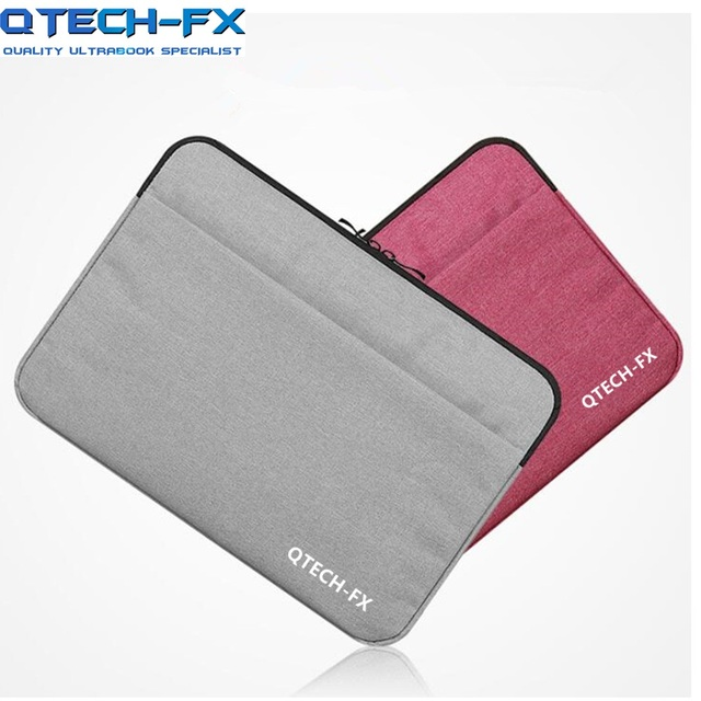 2018 Fashion Laptop bag 13.3/14inch 15/15.6inch Men Women Sleeve bag for QTECH Lenovo HP Dell Notebook Computer Gift Pink
