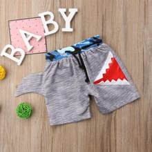 Summer Fashion Baby Boys Beach Shark Print Swimming Board Shorts Kids Beachwear Casual Swimtrunk Short Pants Swimwear(China)