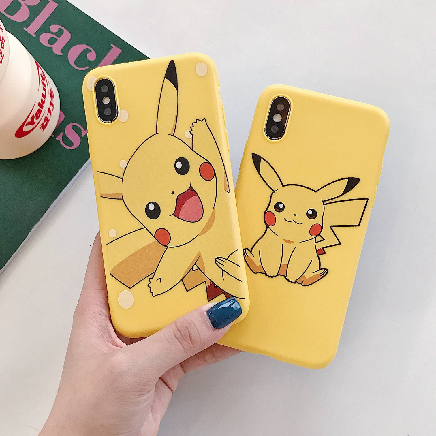 For iPhone 7 Case cute Cartoon yellow Pattern case For iPhone XS Max XR 7 8 Plus 6s Plus soft silicon cover For iPhone 8 plus in Fitted Cases from Cellphones Telecommunications