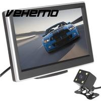 Vehemo 5 Inch LCD Screen Display Car Vehicles DVD VCR Rearview Cameras Reverse Monitor
