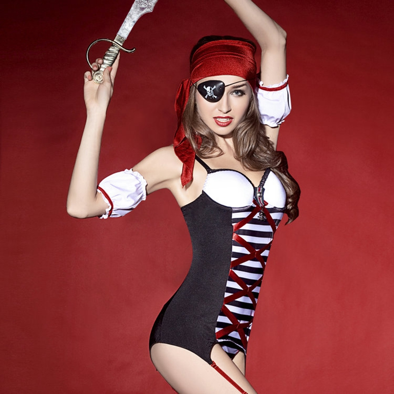 Sexy pirates uniforms youth ladies women role play costumes temptation new porn clothes for sex 8716