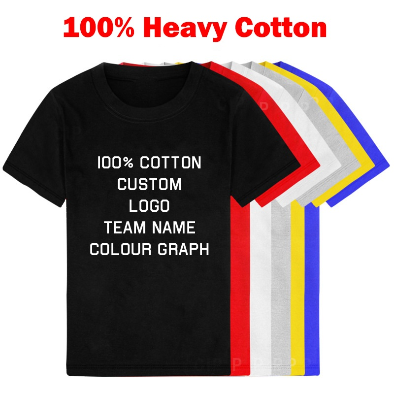Custom Shirt Kids Heavy Cotton Tshirt Boy Customized
