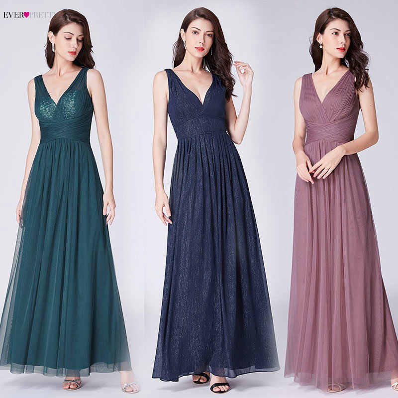 3ab15ba2d Detail Feedback Questions about Navy Blue Prom Dresses Long Ever Pretty A  line V neck Elegant Vestido Largo De Fiesta vestido de fiesta 2018 largo  Party ...